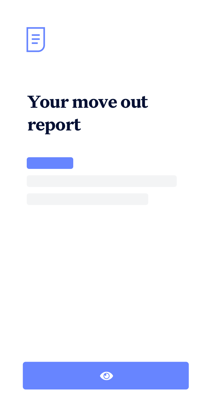 Example Move Out Report