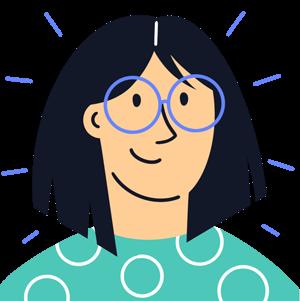 Female tenant wearing glasses