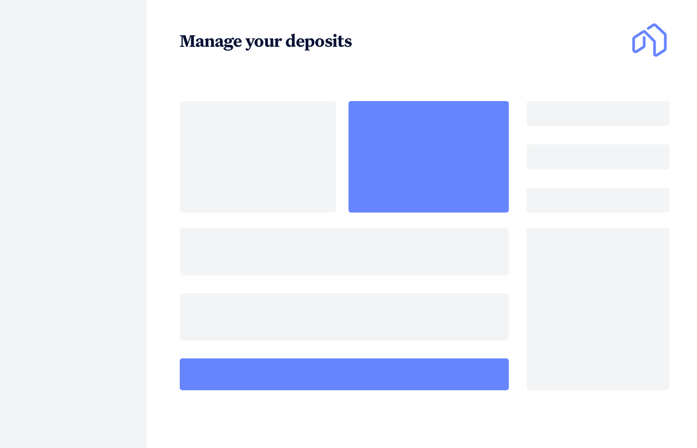 Manage Your Deposits