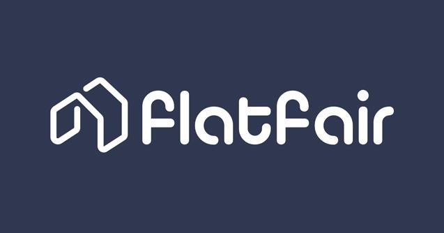 Flatfair Logo Long Dark Blue Background Rgb